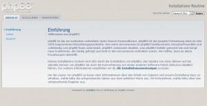 phpBB Einführung in die Installation