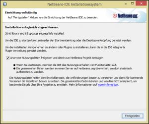NetBeans IDE fertig installiert